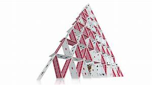 Collapsing House Of Cards. A Playing Card House Of Cards ...