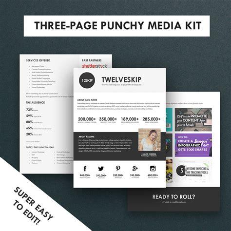Press Kit Template by Minimalist Media Kit Template Press Kit 3 Pages