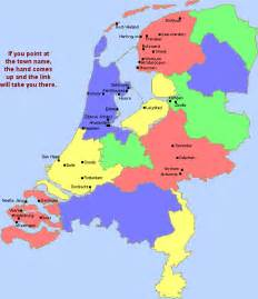 Map of Netherlands Showing Provinces