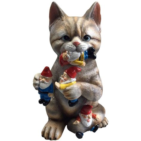 garden gnome statue cat knomes sculpture