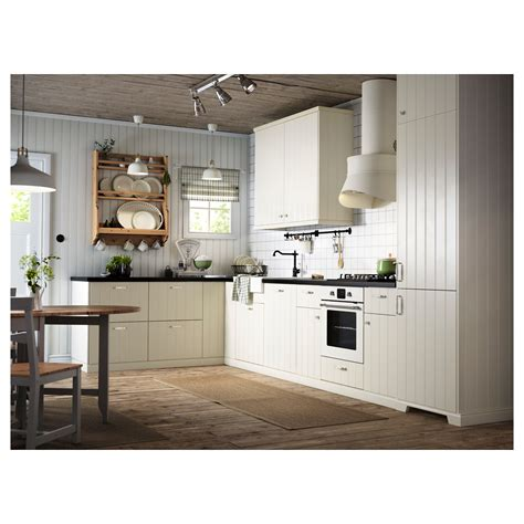 fa軋de cuisine ikea hittarp porte blanc cassé 40x80 cm ikea