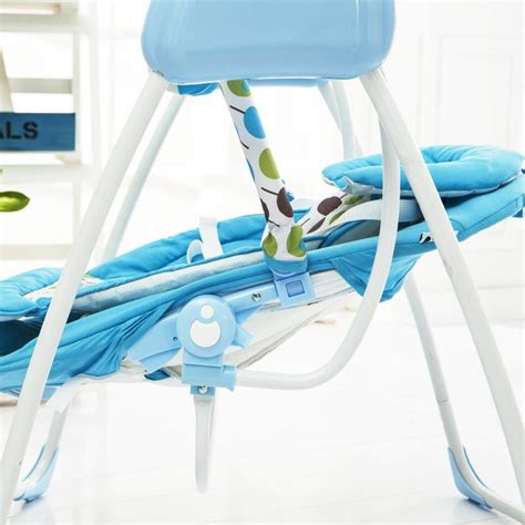 chaise musical blue dot baby electric rocking chair bouncer intelligent