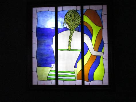 stained glass light box stained glass shadow light box surfer