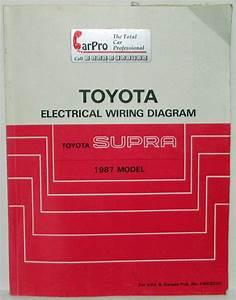1987 Toyota Supra Electrical Wiring Diagram Manual Us  U0026 Canada