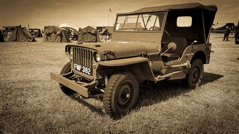 Vintage Jeep Wallpaper by Fond D 233 Cran Militaire Willys Jeep Arm 233 E 3840x2160