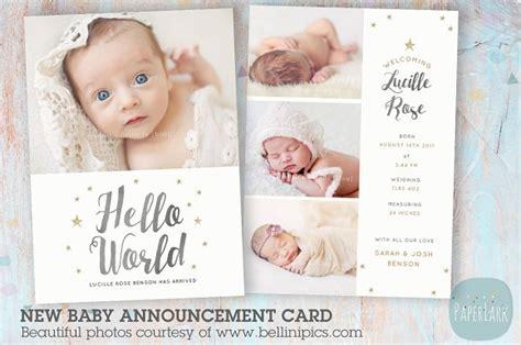 newborn baby card announcement card templates
