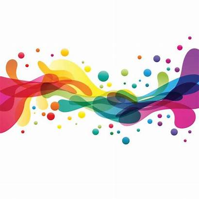 Abstract Splashes Vector Colored Colors Shape Clip