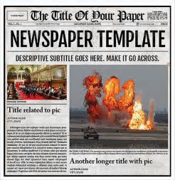 Free Old Newspaper Template