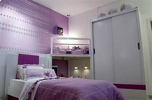 chambre fille couleur lilas With chambre lilas et gris