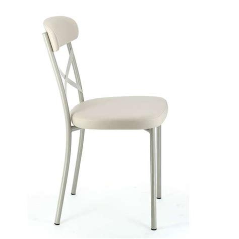 chaise en métal chaise de cuisine en synth 195 tique et m 195 tal calia 4 pieds 192 int 233 ressant 201 clairage id 233 es