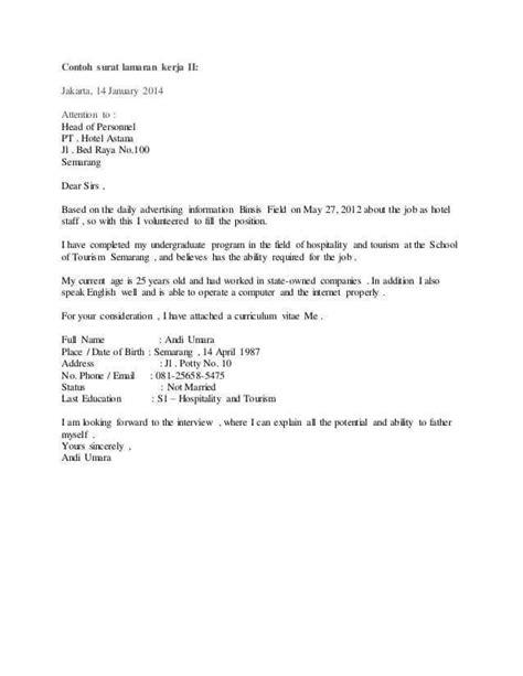 7 contoh surat lamaran pekerjaan dalam bahasa inggris dan