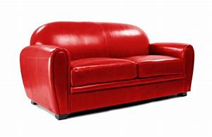 Canapé Cuir Rouge : canap club cuir rouge 3 places cuir de buffle miliboo ~ Teatrodelosmanantiales.com Idées de Décoration