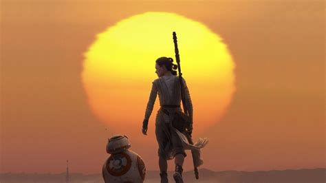 Rey And Bb8 Wallpaper 2015 Star Wars The Force Awakens Daisy Ridley Rey Robot Droid Bb8 Bb8 Star Wars The Force