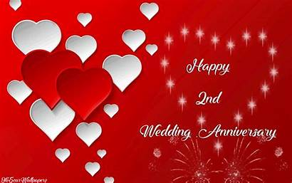 Anniversary 2nd Wishes Marriage Second Happy Wife