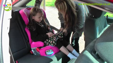graco junior maxi  booster car seat fitting guide
