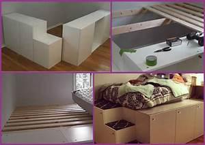 Ikea Hacks Podest : platform bed with storage archives fab art diy tutorials ~ Watch28wear.com Haus und Dekorationen