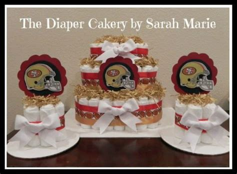 Here Is The 3rd Sf 49ers Diaper Cake I Have Made With 2