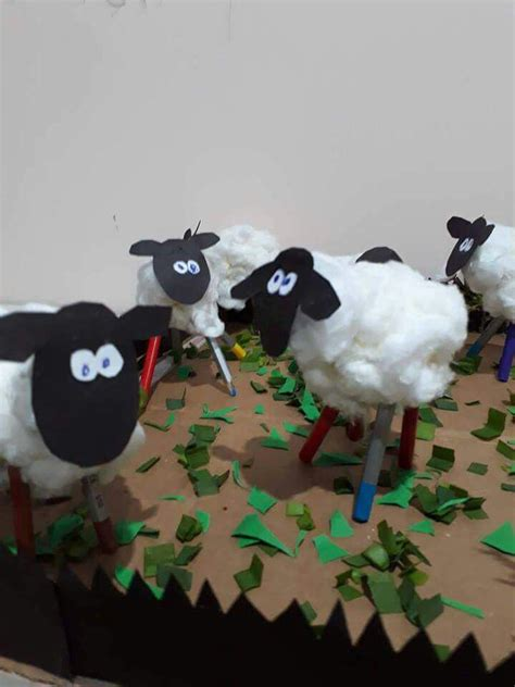 sheep art  craft funny crafts