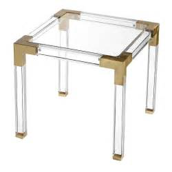 koryn round glass gold acrylic dining table With acrylic and gold coffee table