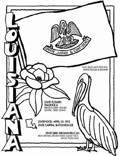 Louisiana Crayola Coloring Pages State Symbols Sheets
