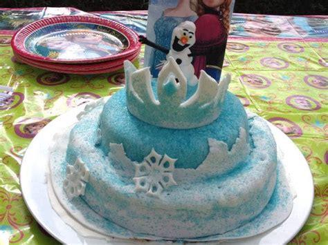 g 226 teau pate 224 sucre la reine des neiges la couronne d elsa et wassila