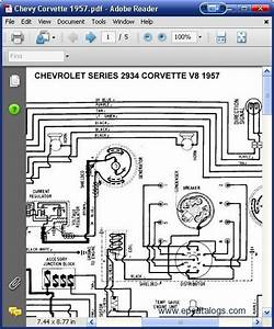 Chevrolet 1957 Corvette Wiring Electrical Diagram Manual