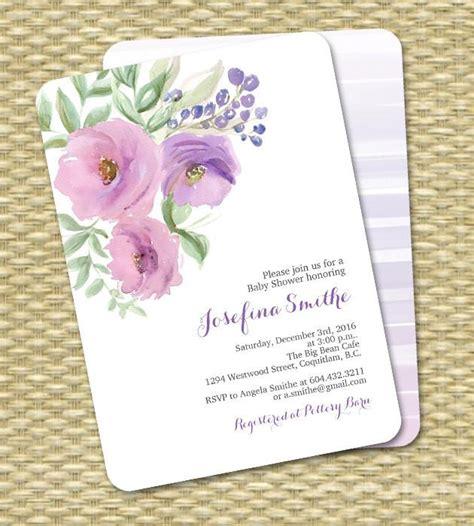 Printable Bridal Shower Invitation Watercolor Flowers