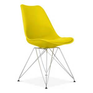 Chaise Pied Bois Eames by Yellow Eames Dining Chair With Eiffel Metal Legs Cult