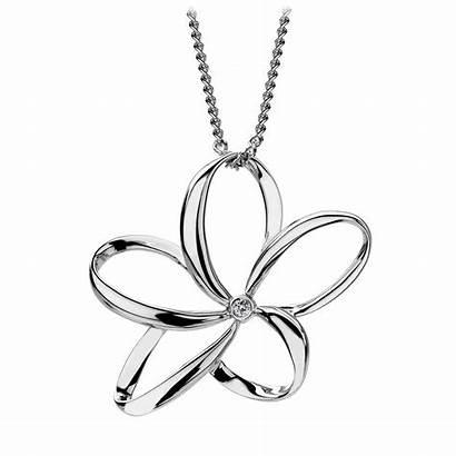Diamonds Flower Pendant Silver Paradise Diamond Open