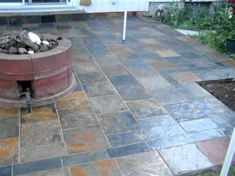 slate back patio installation mov