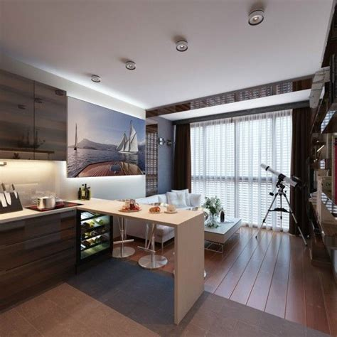 5 Contrasting Small Apartment Designs by 3 Distinctly Themed Apartments 800 Square With