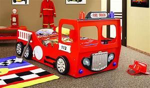 Auto Als Bett : feuerwehrbett kinderbett autobett in rot themenbett feuerwehr truck ebay ~ Markanthonyermac.com Haus und Dekorationen