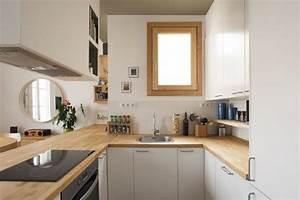 Küchenarbeitsplatte Eiche Rustikal : kleine k che in u form mit halbinsel zum wohnzimmer k che pinterest moderne k che ~ Markanthonyermac.com Haus und Dekorationen