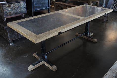 dining table with top and iron base dining tables