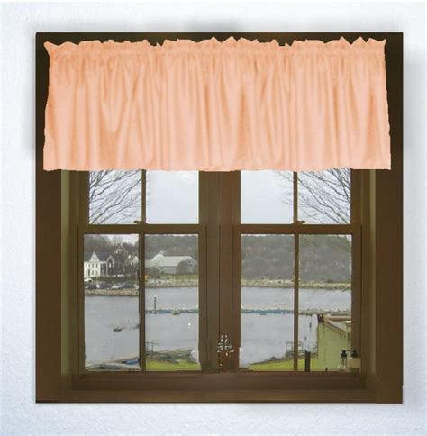 solid peach color valance   lengths custom size