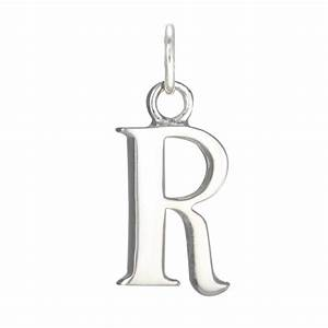 sterling silver alphabet letter r charm With sterling silver letters