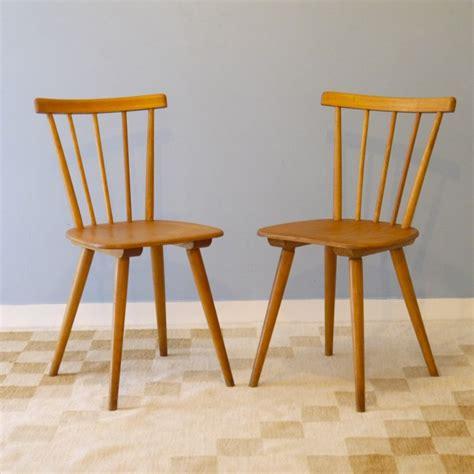 chaises vintage scandinave bois la maison retro