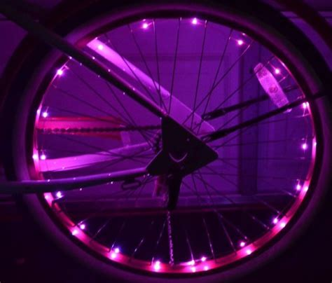 Wheel Lights by Led Bicycle Wheel Lights Pink Kit Both Wheels Safety