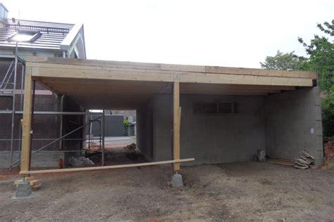 Aufbau Flachdach Garage Freistehende Flachdach Garage