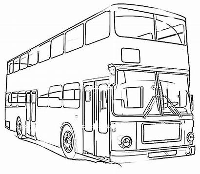 Coloring Transportation Pages Bus Land Printable Vehicles
