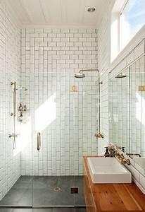 Salle De Bain En L : petite salle de bain avec douche l 39 italienne en carrelage m tro ~ Melissatoandfro.com Idées de Décoration