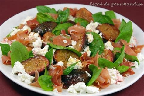 cuisiner les figues fraiches salade de figues fraîches au chèvre péché de gourmandise