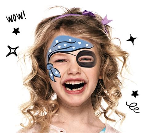 carnaval maquillage pirate fille