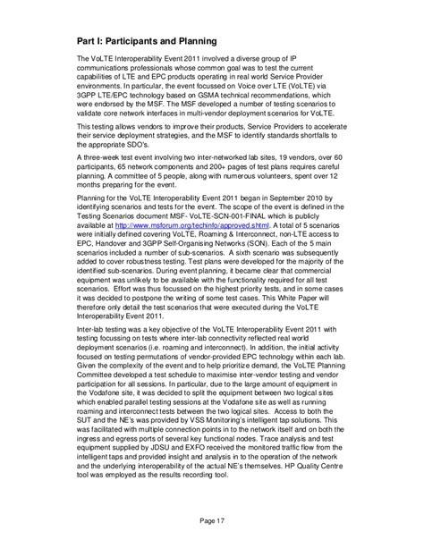 msf volte interoperability event report