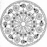 Mandala Square Coloring Pages Getdrawings sketch template