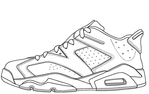 Coloring Jordans by 11 Low Outline Coloring Coloring Pages