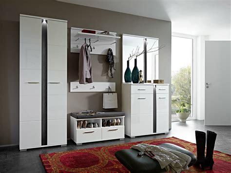 möbel garderobe modern spots garderobenbank sitzbank weiss hochglanz schiefer