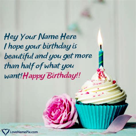 creative happy birthday cupcake  rose