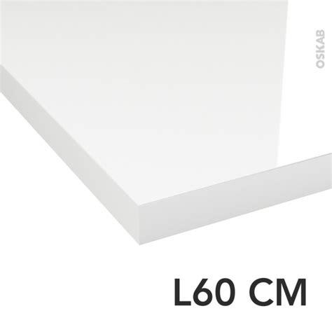 plan de toilette n 176 109 d 233 cor blanc brillant stratifi 233 chant coordonn 233 l60 x p50 x e3 8 cm