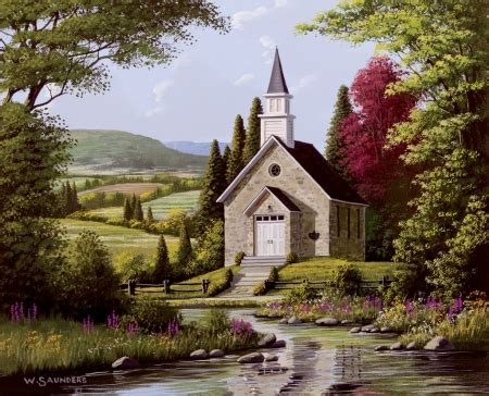 country church religious architecture background